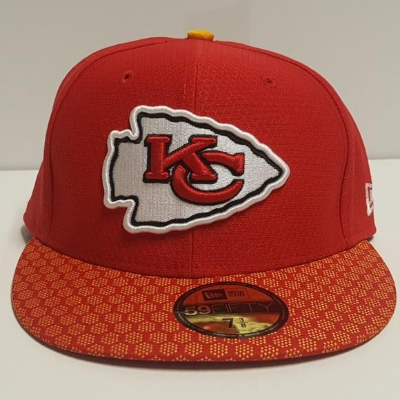 6b7b8ec4032 Kansas City Chiefs New Era NFL Sideline Hat 7 3 8